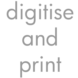 300 px Text digitise and print
